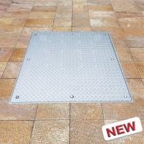 Tapa de inspección para pisos Sistema MA-GB - Acero Inoxidable / Apertura asistida