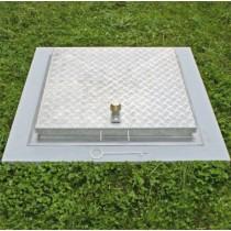 Sistema SA3-RI  - Tapa de inspección para pisos Acero inoxidable / Aluminio – con placa estriada blindada