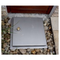 Tapa de inspección para pavimento impermeable blindada cuadrada - Sistema SA3